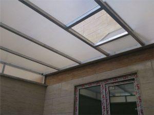 سقف کشویی حیاط خلوت