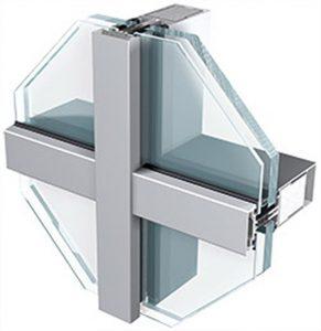 انواع پنجره کرتین وال