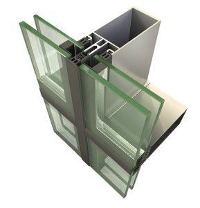 انواع شیشه کرتین وال